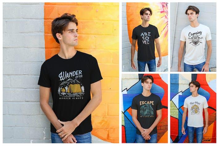 Thumbnail for Herren Urban T-Shirt-Mockups