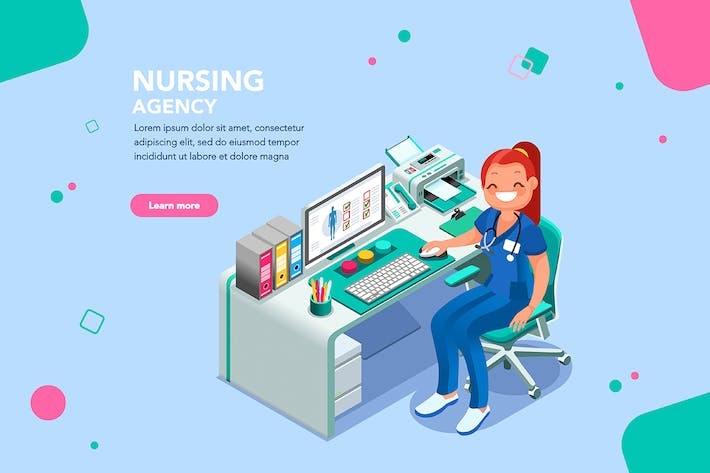 Thumbnail for Nurse Agency Web Page Template
