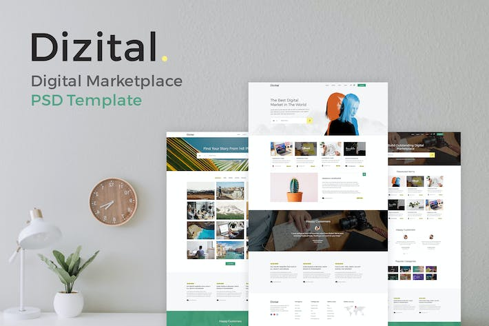 Thumbnail for Dizital - Easy Digital Downloads PSD Template