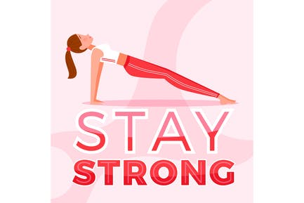 Stay Strong Yoga Pose