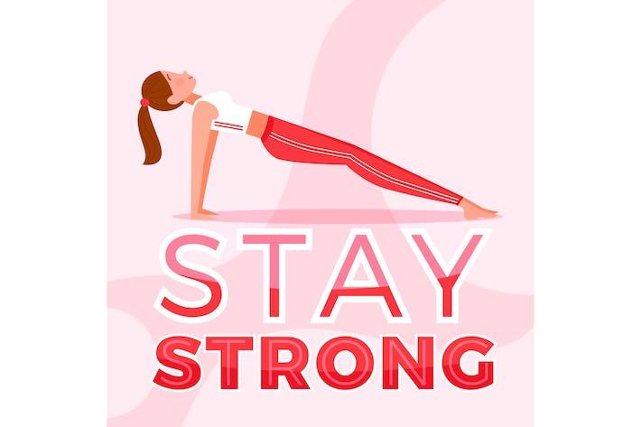 Thumbnail for Оставайтесь сильным позе йоги