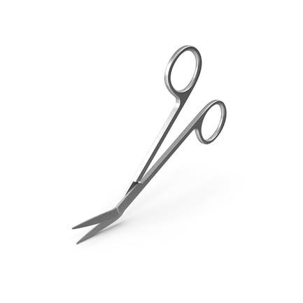 Angled Medical Scissors