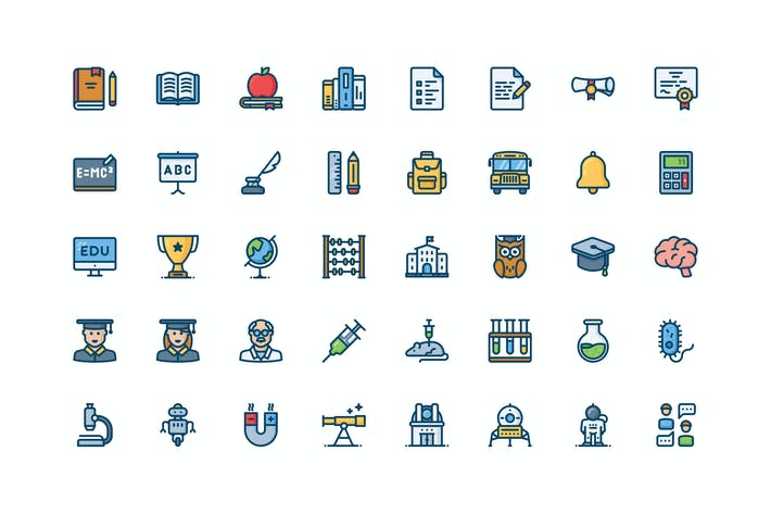 Thumbnail for 40 Science and Education icons