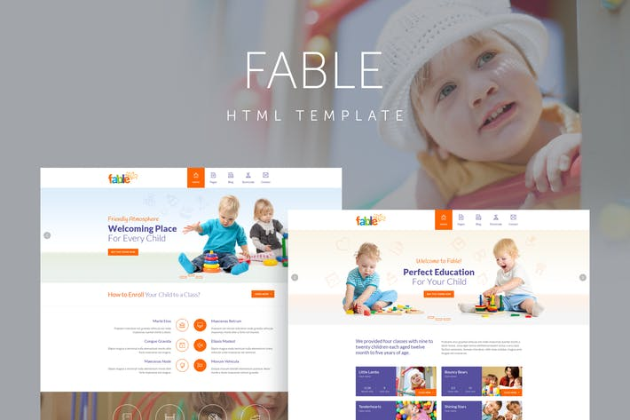Thumbnail for Fable - Children Kindergarten Template