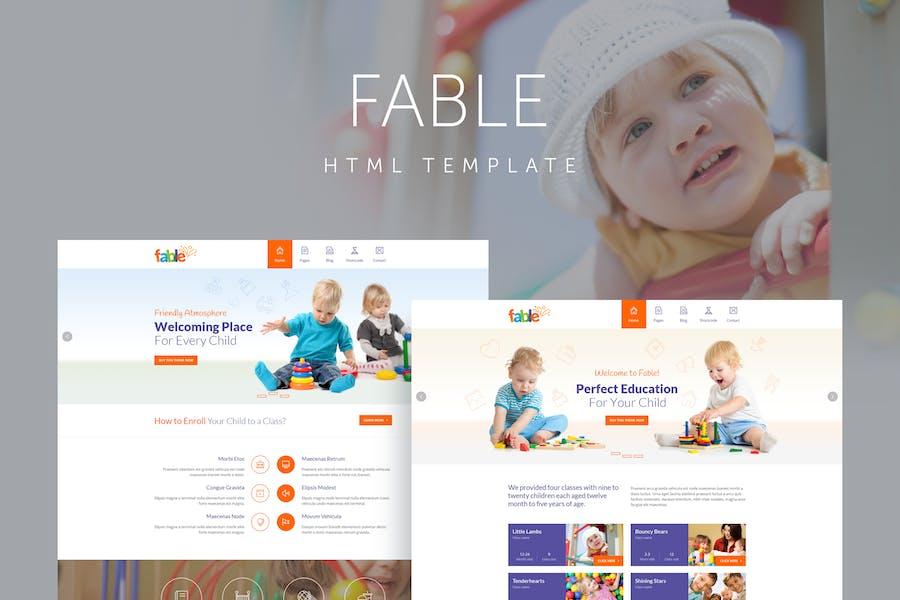 Fable - Children Kindergarten Template
