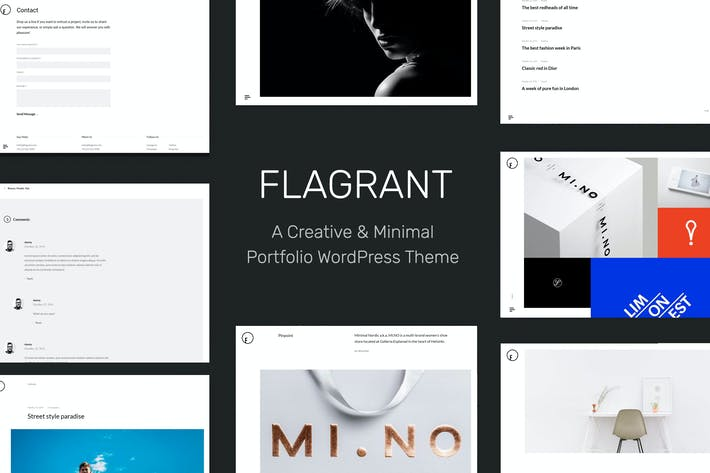 Thumbnail for Flagrant - A Creative Portfolio WordPress Theme Fo