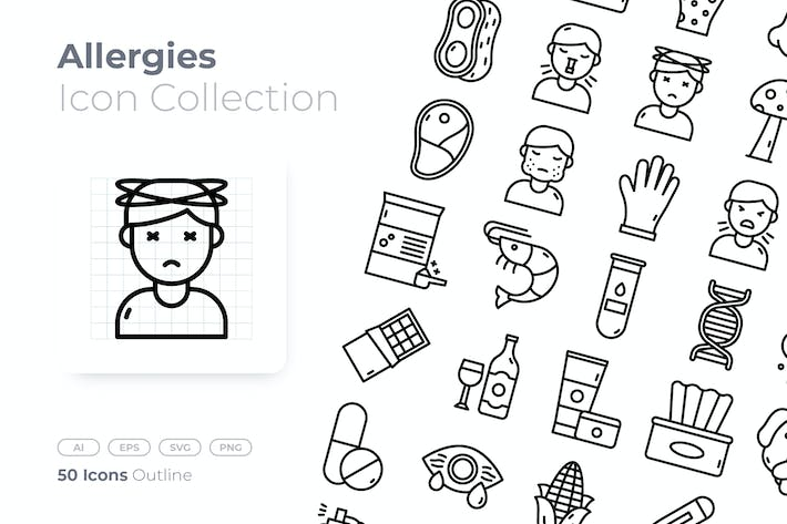 Allergies Outline Icon