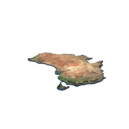 Australia Continent Map