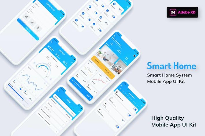 Thumbnail for Smart Home Mobile App Light Version (XD)
