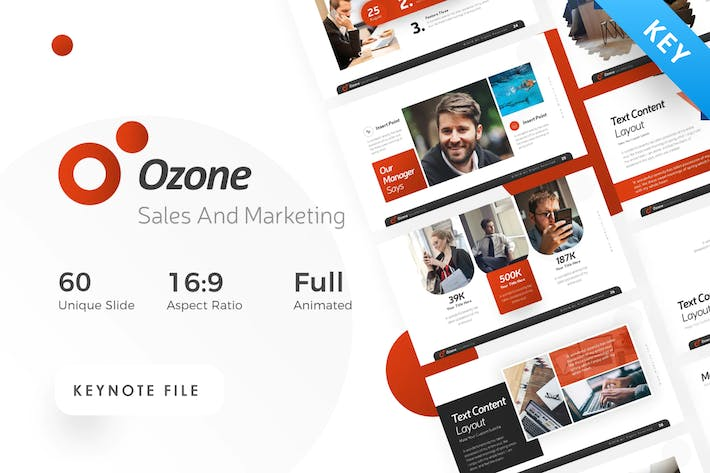 Thumbnail for Ozone Sales & Marketing Keynote Template