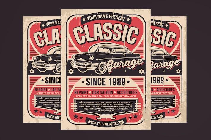 Thumbnail for Vintage Car Garage Service Flyer