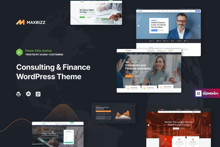 Thumbnail for Maxbizz - Consulting & Financial Elementor WP