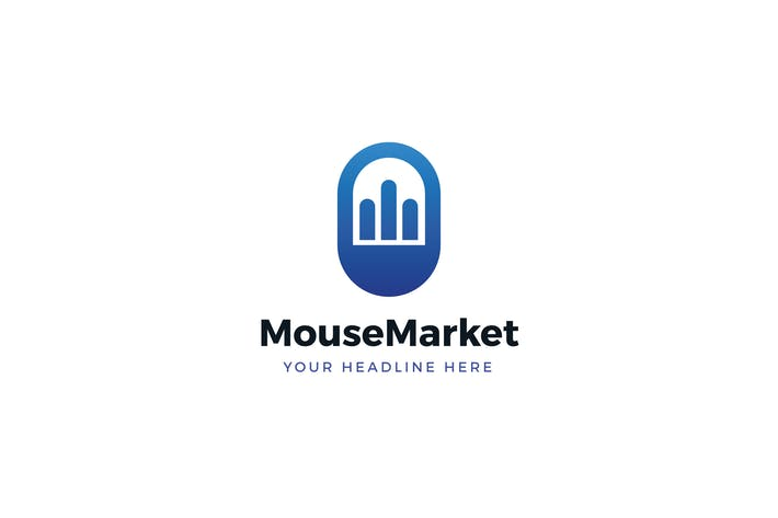 Cover Image For Mouse Market Logo Template