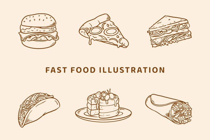Thumbnail for Fast-Food-Illustration (Gliederungsversion)