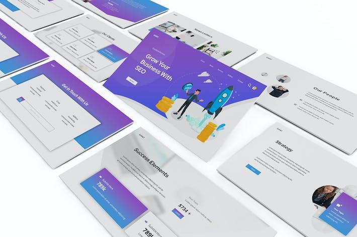 Thumbnail for SEO & Цифровой маркетинг Powerpoint