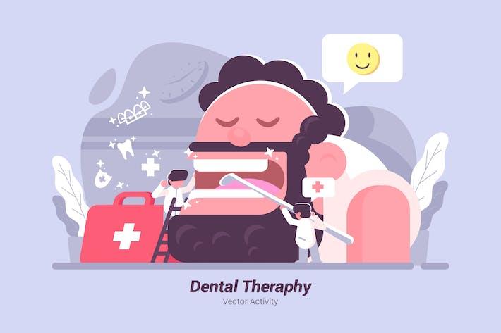 Thumbnail for Стоматологическая терапия - Вектор иллюстрация