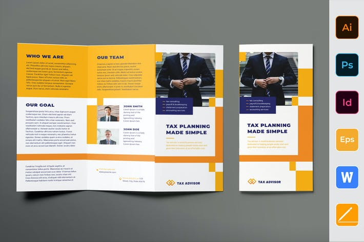 Thumbnail for Tax Advisor Brochure Trifold
