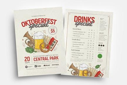 Oktoberfest Flyer / Table Tent Menu