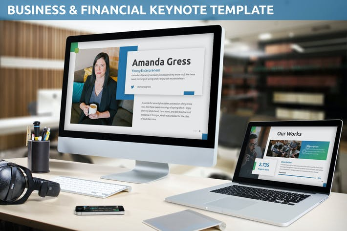 Thumbnail for Business & Financial Keynote Template