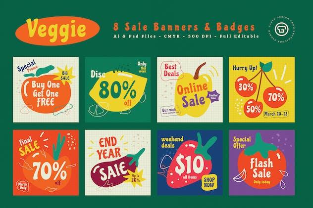 Veggie Sale Banners & Badges