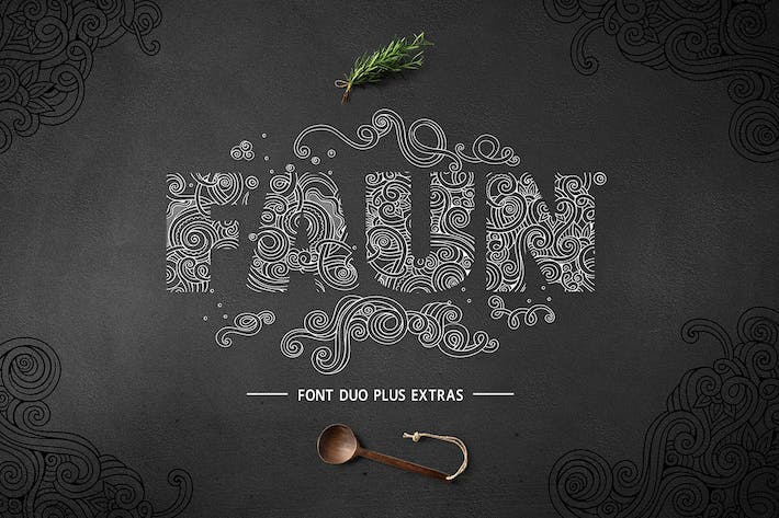 Thumbnail for Faun Font Duo