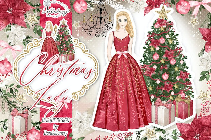 Thumbnail for Christmas Lady design