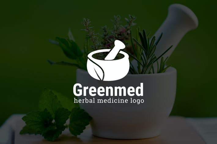 Thumbnail for Greenmed : Herbal Medicine or Pharmacy Logo