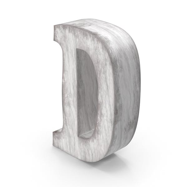 Wooden Decorative Letter D