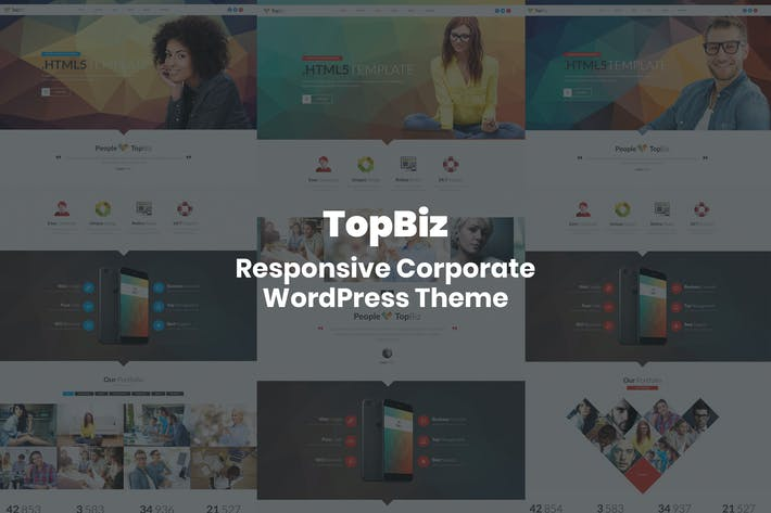 Thumbnail for TopBiz - Responsive Corporate WordPress Theme