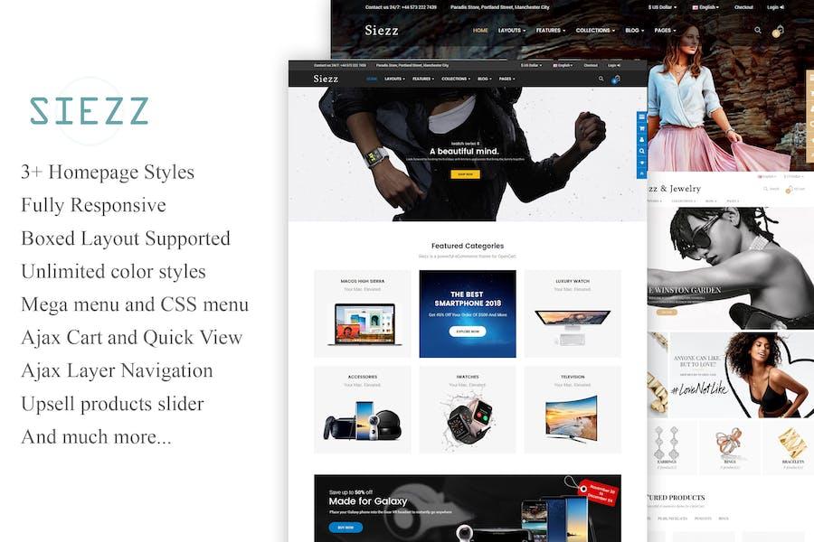 Siezz - Multipurpose OpenCart 3 Theme