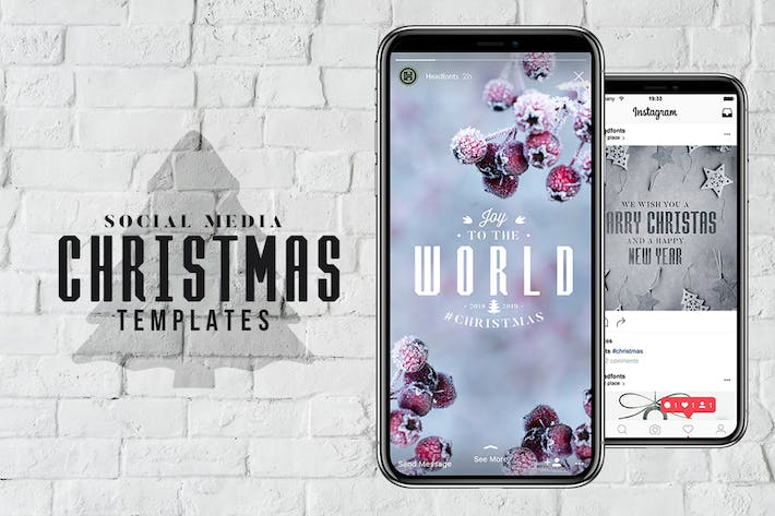 Thumbnail for Social Media Christmas Templates