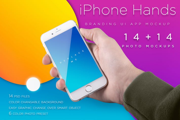 Thumbnail for iPhone Mockup / Template With Colorful Bcg's vol.2