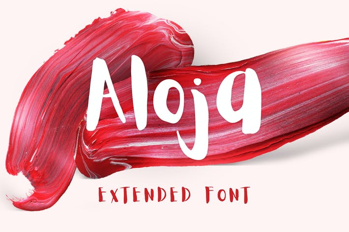 Thumbnail for Aloja Extended Brush Font