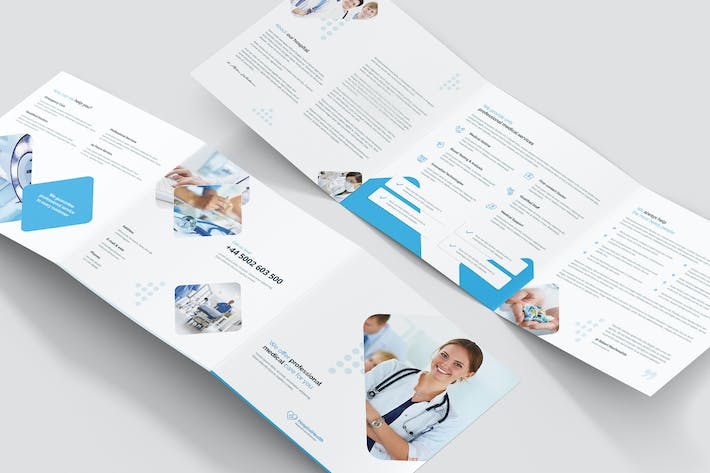 Thumbnail for Brochure – Hospital Tri-Fold Square