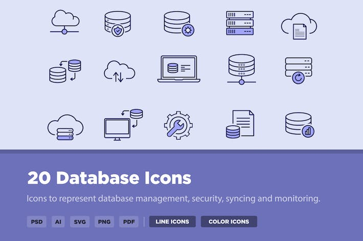 Thumbnail for 20 Database Icons