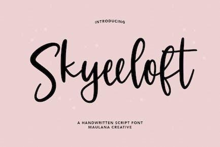 Skyeeloft Handwritten Script Font