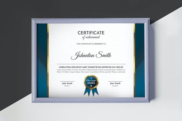 Thumbnail for Modern Blue Certificate Template