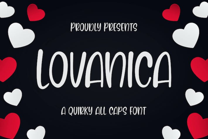 Thumbnail for Lovanica - a Quirky Font
