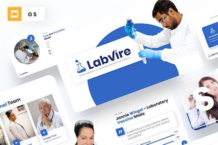 Labvire - Science Research Google Slides Template