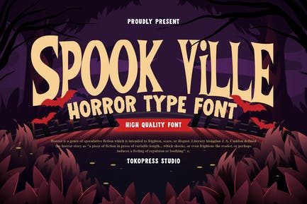 Spook Ville - Scary Font