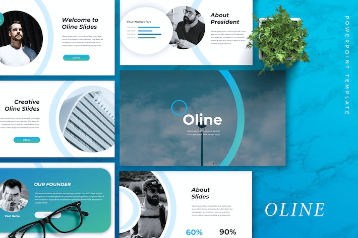 Thumbnail for OLINE - Company Profile Powerpoint Template