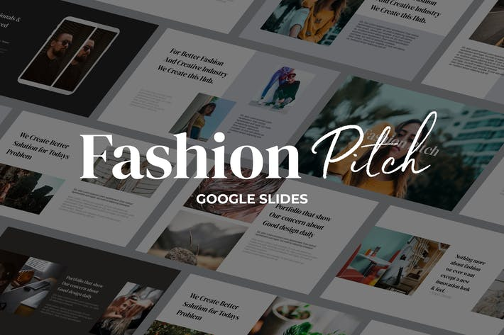 Thumbnail for Fashion Pitch - Google Slides Template