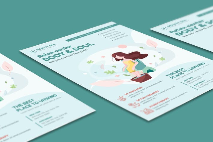 Thumbnail for Beauty Spa Flyer PSD Template