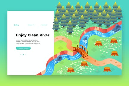 River - Banner & Landing Page