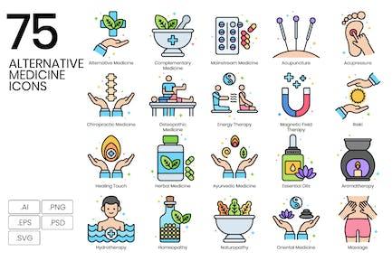 75 Alternativ-Medizin-Icons - Vivid Series