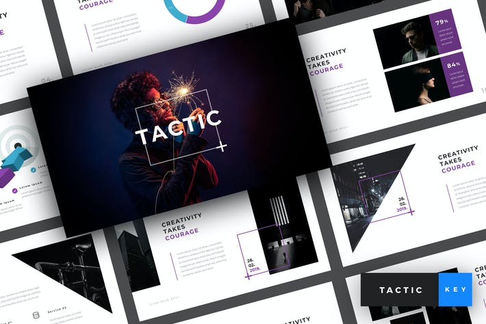 Thumbnail for Tactic - Creative Keynote Template