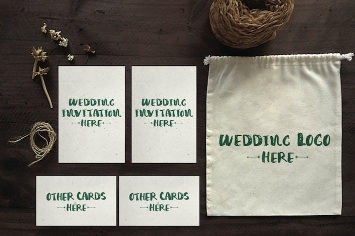 Thumbnail for Wedding Invitation Mockups