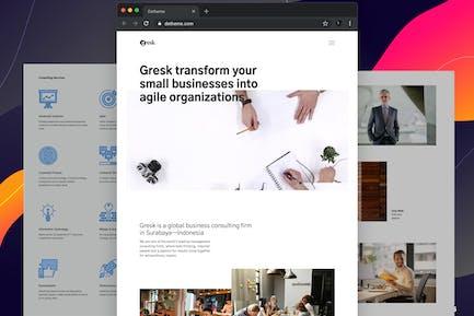 Gresk - HTML Vorlagen für Business und Management