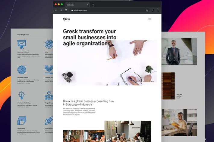 Thumbnail for Gresk - HTML templates for Business and Management