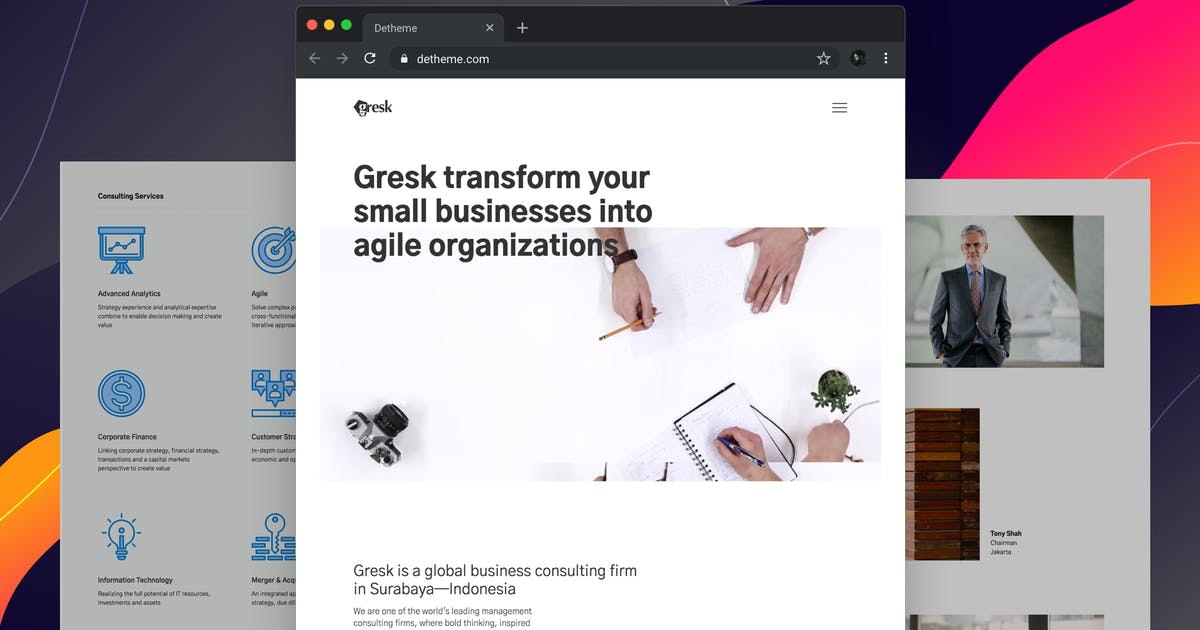 Download Gresk - HTML templates for Business and Management by deTheme